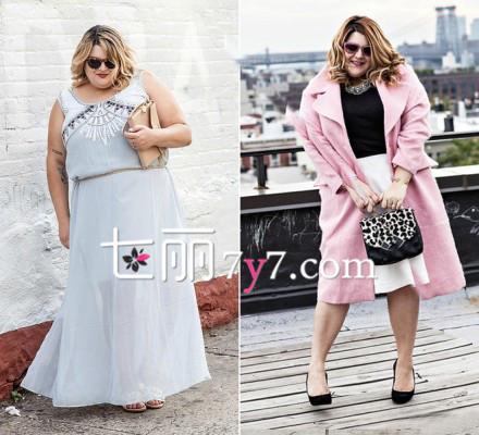 胖女人穿衣技巧搭配图片 look4-胖女人的冬天不寂寞 胖女人穿衣搭配技