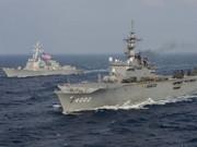 日本派2艘萬噸巨艦與美軍聯演