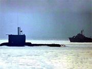 土耳其潛艇緊急上浮與希臘海警船對峙