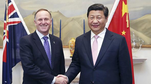 习近平同新西兰总理约翰·基举行会谈