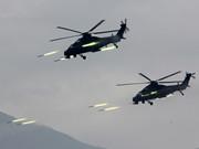 解放軍步坦陸航聯合作戰 武直10連射火箭彈