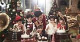 金秀贤圣诞广告亮招牌笑容