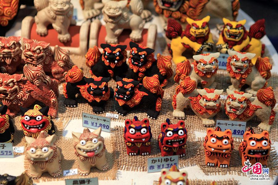 沖繩名産獅子工藝品店
