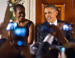 奥巴马与米歇尔白宫庆祝光明节