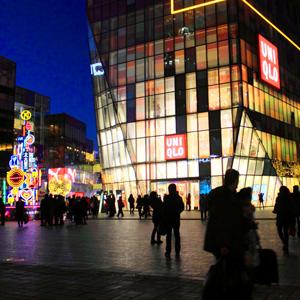 京城街头唯美圣诞夜[组图]