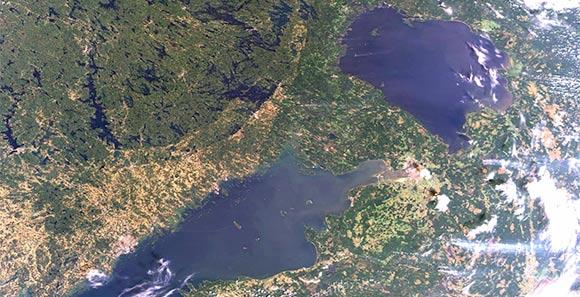 高清美图:欧洲航天局发布从太空鸟瞰俄罗斯