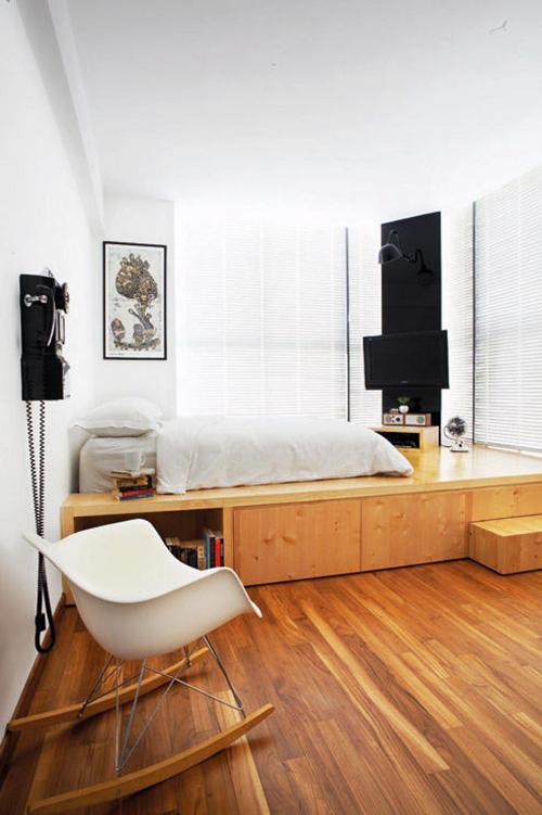 日式风格榻榻米床房装修效果图 打造唯美卧室