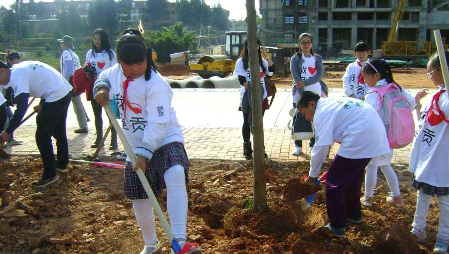 市民看家园逛新城:植树增绿靓呈贡
