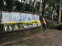 抗戰勝利70週年 遊客在雲南騰衝國殤墓園祭拜英烈