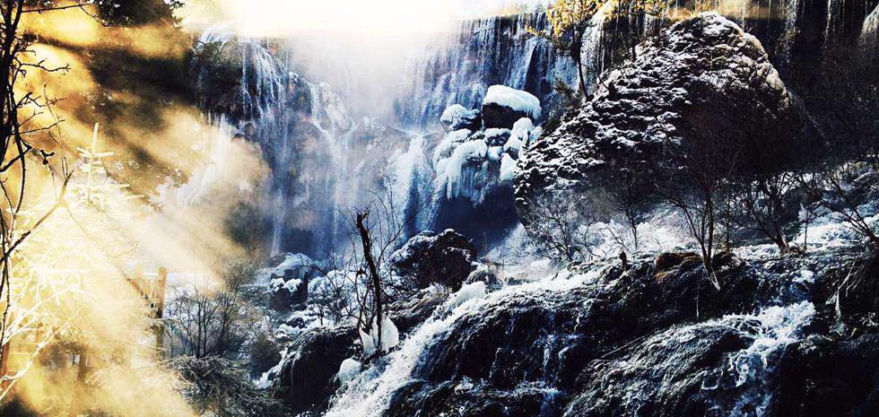 宁静九寨之冬——凝固的温柔(高清组图)