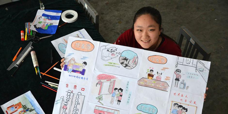 大学生手绘创意《春运回家图》讲述春运故事[组图]
