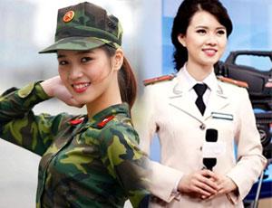 大量越南軍裝妹子照放鬆上班緊張心情