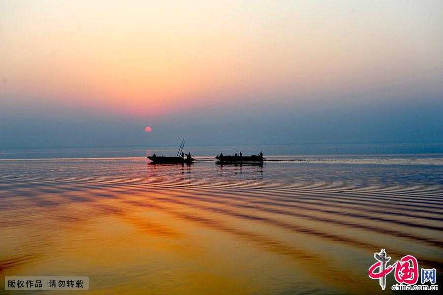 宿鸭湖,位于汝南县境内,是全国最大的人工平原水库。中国网图片库 孙凯/摄
