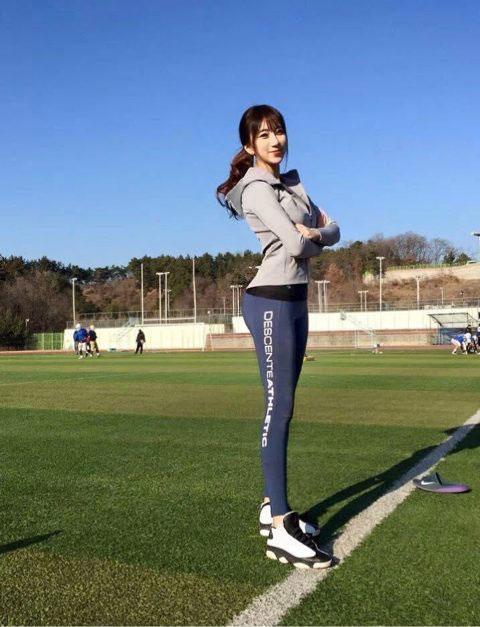 南韩美女健身教练走红
