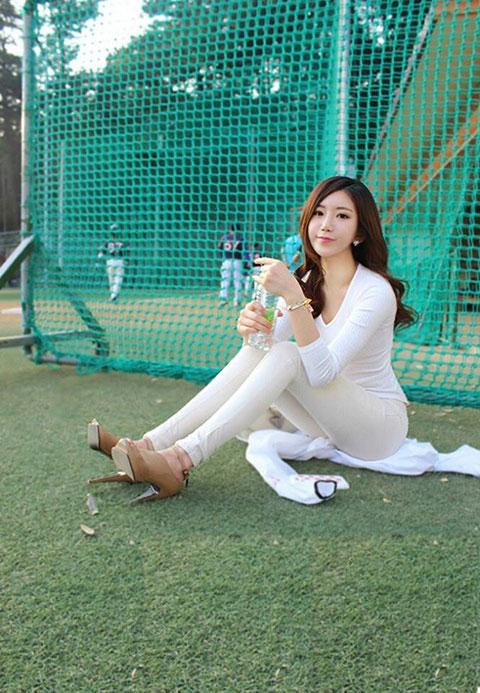 韩国美女健身教练走红