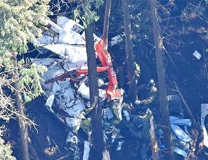 日本自衛隊直升機墜毀