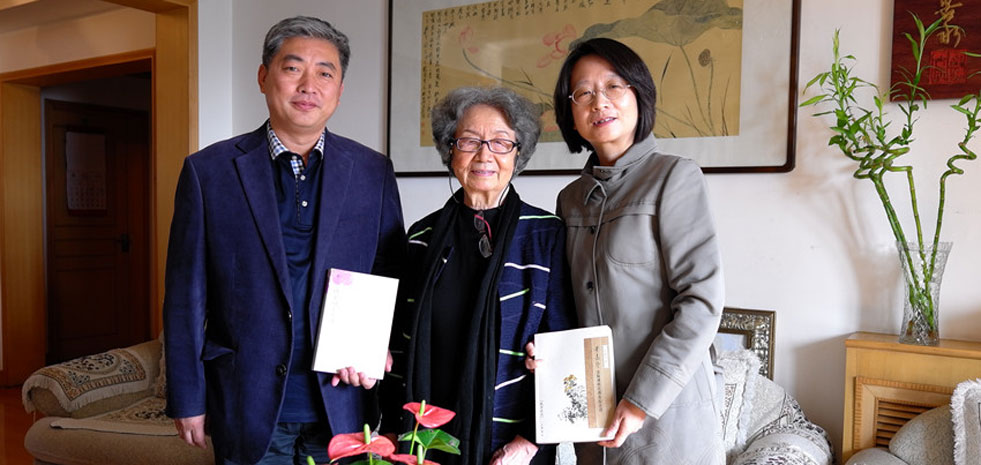 海棠之约:孙旭光赴天津南开大学访问叶嘉莹先生