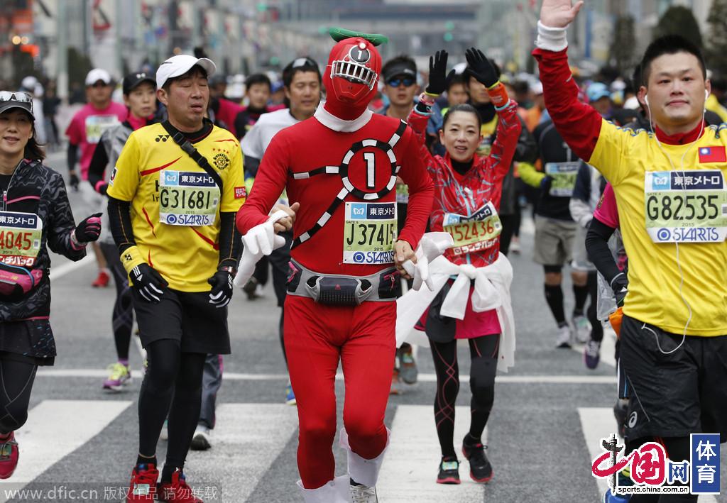 日本东京,2015东京马拉松开跑.(图:东方IC)-2015东京马拉松