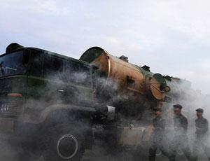 春節期間東風21導彈部隊出動