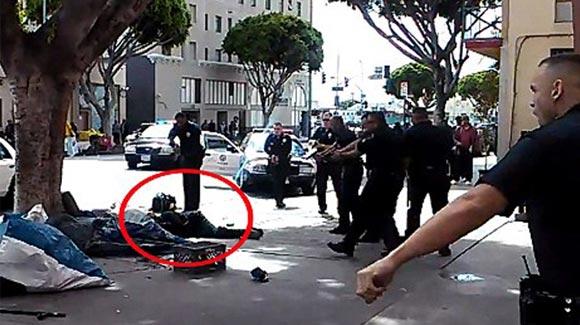 洛杉矶警察连开数枪射杀流浪汉
