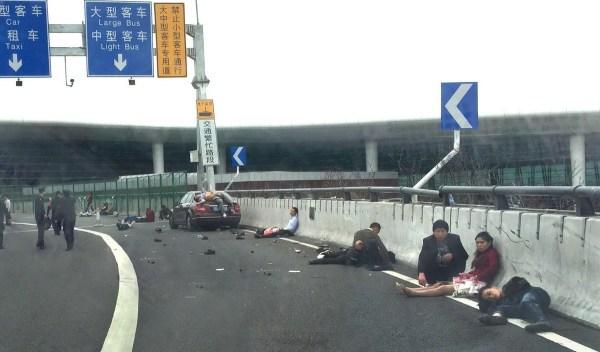 深圳机场车祸惨剧已致9死22伤_ 视频中国