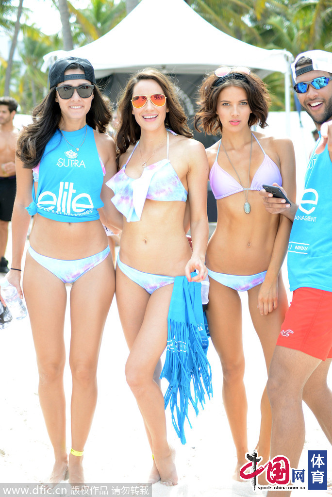 组图:迈阿密模特沙排大赛