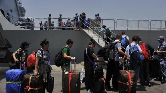 571名中国公民安全撤离也门