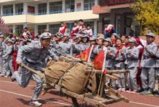 紅軍小學舉辦'紅色運動會'