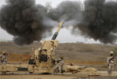 沙特軍隊攻擊葉門邊境