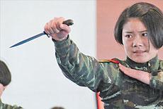 獵鷹突擊隊女隊員匕首格鬥