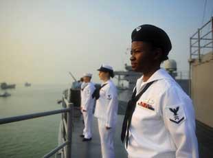 美軍亞太旗艦造訪中國湛江軍港
