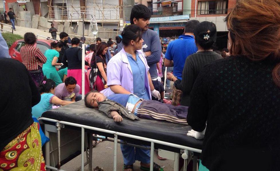 尼泊尔发生8.1级地震 房屋损毁严重