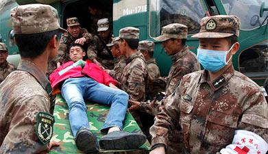 中国派直升机解救中尼水电站被困人员