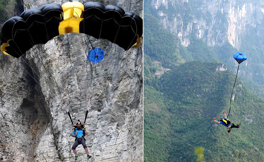 中國翼裝極限跳傘第一人