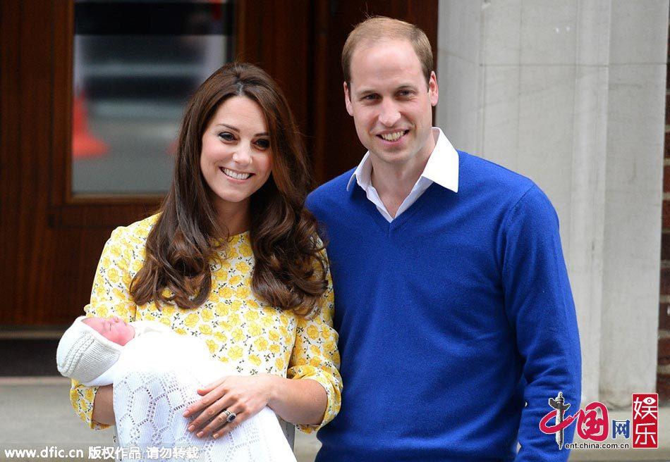 凯特王妃二胎产女 英国王室小公主正面照曝光