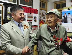 97歲中國老兵獲衛國戰爭勝利紀念章