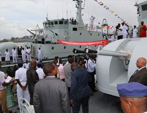 坦尚尼亞服役兩艘中國造巡邏艇