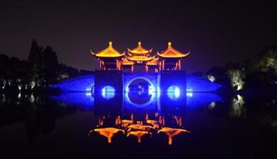 扬州风光---夜游瘦西湖