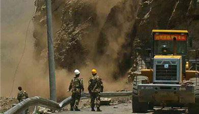 中尼边境再次发生7.5级地震 吉隆口岸塌方中断