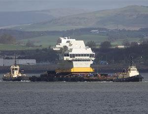 英國第2艘女王級航母艦島到貨