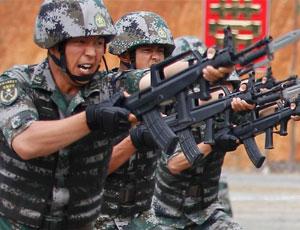 解放軍邊防向中越防長演示科目