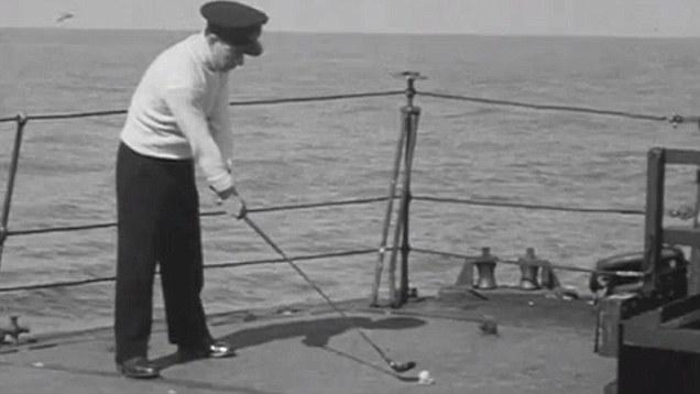 二戰影像:英皇家海軍的甲板生活