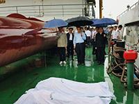 李克強冒雨為翻沉客船遇難者默哀