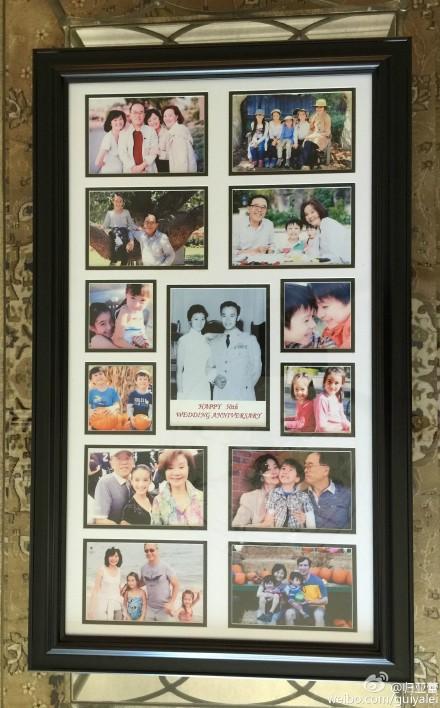 归亚蕾纪念结婚50周年 儿孙10人满堂齐聚庆祝