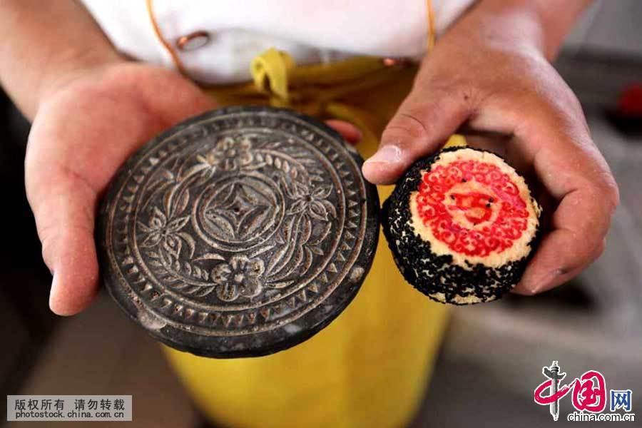 天津 小吃 名吃 攻略 蛤蟆吐蜜 月饼模 124065
