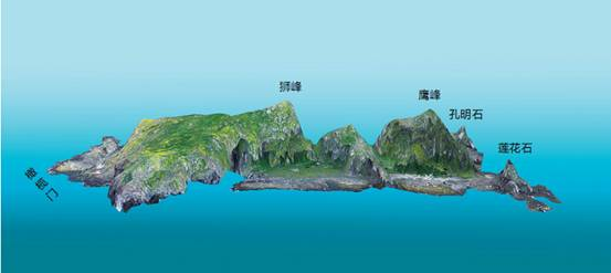 Трехмерное изображение острова Бэйсяодао