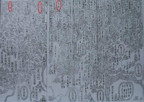 Карты прибрежных гор и песчаных отмелей провинции Фуцзянь