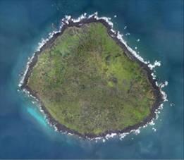 Imagen de teledetección del islote Huangweiyu