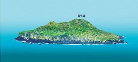 Presentación en 3D del islote Huangweiyu