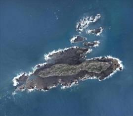 Imagen de teledetección del islote Chiweiyu